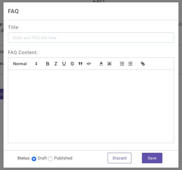 wysiwyg editor for chat faqs kommunicate