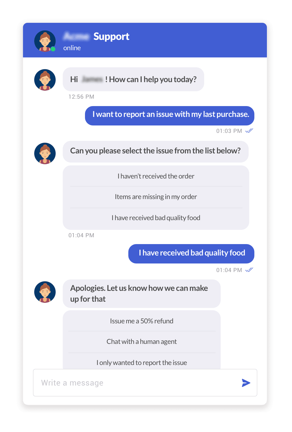 Chatbot Human handoff based on user preference