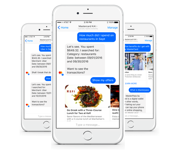 mastercard's facebook messenger bot