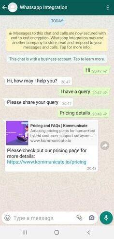 Testing your whatsapp bot
