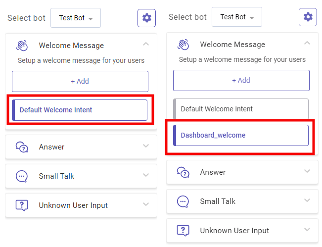 create multiple welcome messages