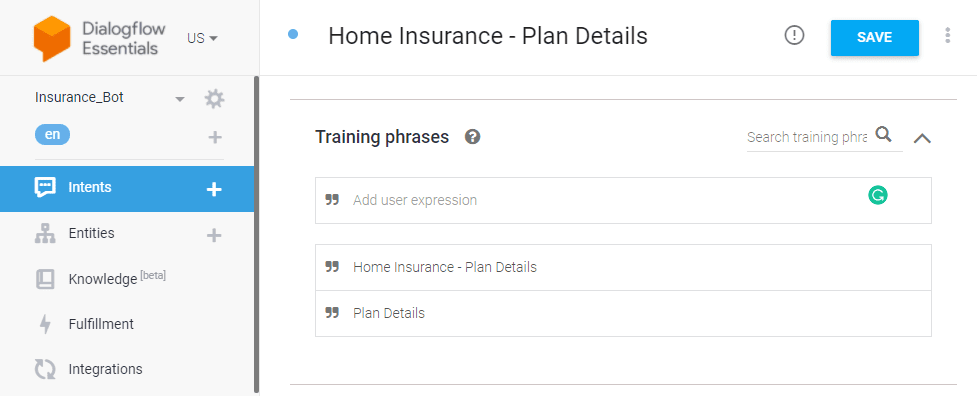 Home insurance plan details